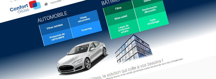 Lancement nouveau site Confort Glass Caluire Lyon