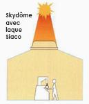 Laque de protection solaire Siaco sur Skydôme