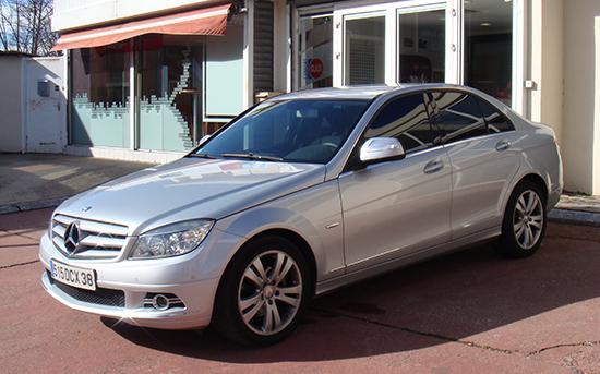 Mercedes gris clair, Esthétique vitres teintées, Confort Glass à Sathonay-Camp, Lyon
