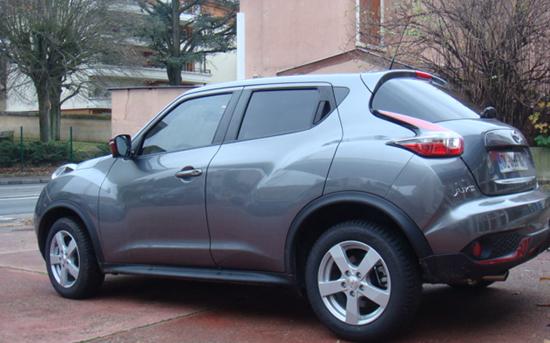 Nissan Juke gris, Esthétique vitres teintées, Confort Glass à Caluire, Lyon