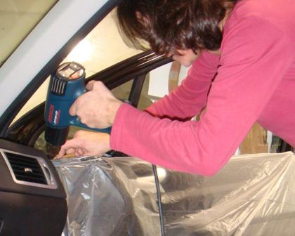 Savoir faire, technicien automobile, Concours de pose de film teinté SOLARSCREEN 2009