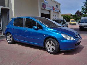 Vitres teintées Peugeot bleue