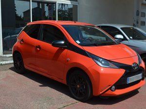 Vitres teintées Toyota orange