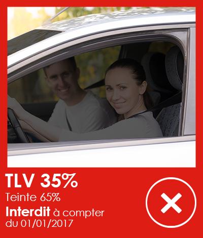 Réglementation automobile, Vitres teintées TLV 35%, Réglementation vitres teintées automobile