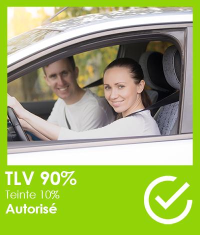 Réglementation automobile, Vitres teintées TLV 90%, Réglementation vitres teintées automobile