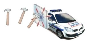Vitres sécurisées Film de Sécurité anti-carjacking, voiture police, nos produits vitres teintées