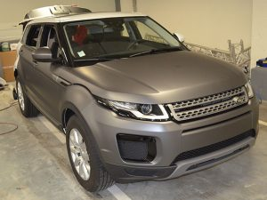 Covering car-wrapping Land Rover Evoque, Confort Glass Caluire, Lyon
