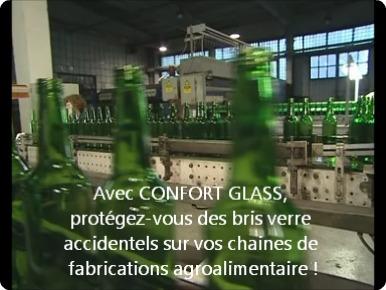 Film sécurité, norme alimentaire anti bris de verre, pour Bâtiment