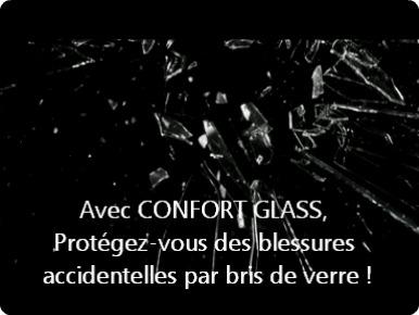 Film sécurité, accident bris de verre, pour Bâtiment