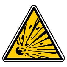 Panneau risque explosion