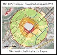 Périmètre PPRT, SEVESO, risque industriel, Confort Glass Caluire, Lyon