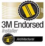 Logo 3M endorsed installer architectural, Confort Glass