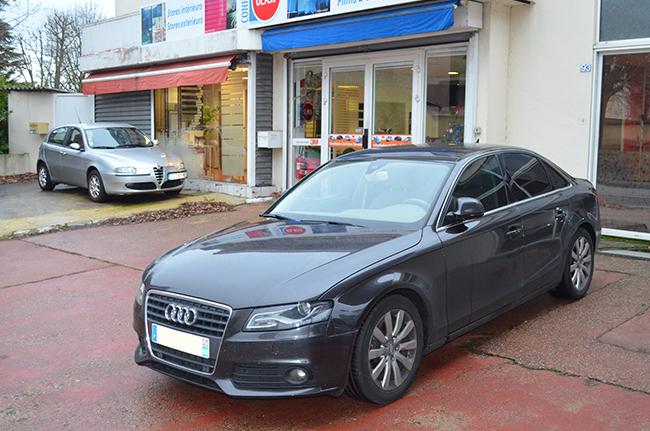 Automobile, vitres teintées, 3-4 arrière sur Audi A4, film solaire, Caluire, Lyon, Rhône-Alpes
