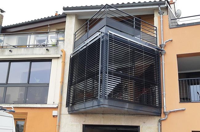 Pose stores extérieurs, Confort Glass Bâtiment, Caluire, Lyon