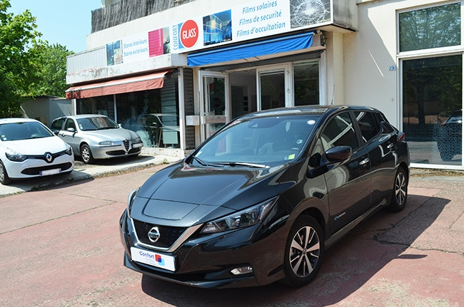 Vitres teintées Nissan Leaf, Confort Glass automobile, Sathonay-Camp, Lyon