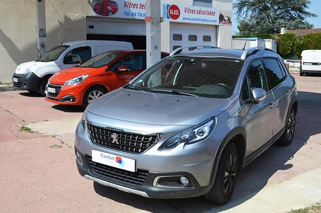 Vitres teintées Peugeot 2008, Confort Glass Automobile, Caluire, Lyon