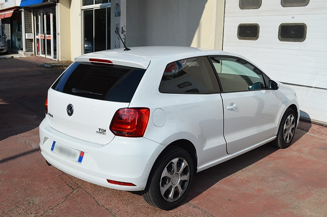 Vitres teintées Volkswagen Polo blanche -
