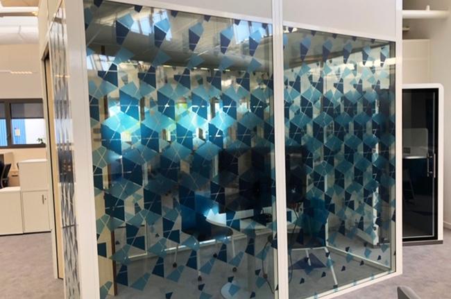 Film décoration impression personnalisée, Confort Glass Bâtiment, Caluire, Lyon, région Rhône-Alpes