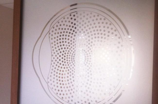 Personnalisation de film dépoli, couverture, Confort Glass Bâtiment, Sathonay-Camp, Lyon, région Rhône-Alpes