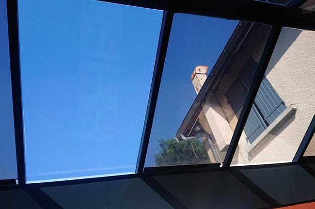 Film solaire Silver35 verrière, film de protection solaire, Confort Glass Bâtiment, Caluire, Lyon