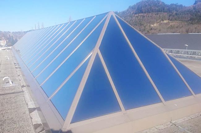 Film solaire verrière, Confort Glass, Sathonay-Camp, Lyon, région Rhône-Alpes