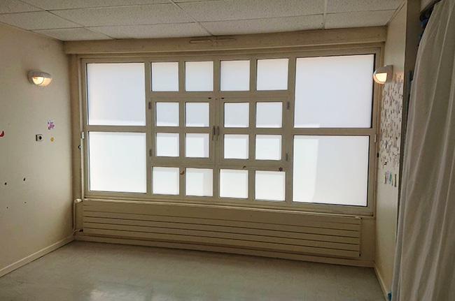 Film dépoli sur vitrages, Confort Glass Bâtiment, Sathonay-Camp, Lyon