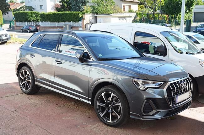 Vitres teintées Audi Q3, Confort Glass Automobile, Sathonay-Camp, Lyon, région Rhône-Alpes