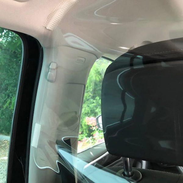 Safe passengers, film de protection covid-19 pour véhicule, protection sanitaire, kit passagers arrières Confort Glass, anti-crachats, anti-postillons