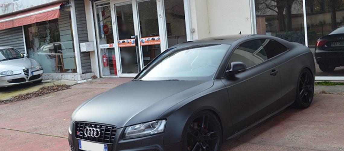 Automobile, vitres teintées, 3-4 arrière sur Audi RS5, film solaire, Sathonay-Camp, Lyon, Rhône-Alpes