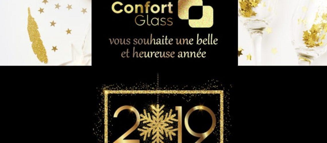 Bonne et heureuse année 2019, Confort Glass Automobile et Bâtiment, Caluire, Lyon