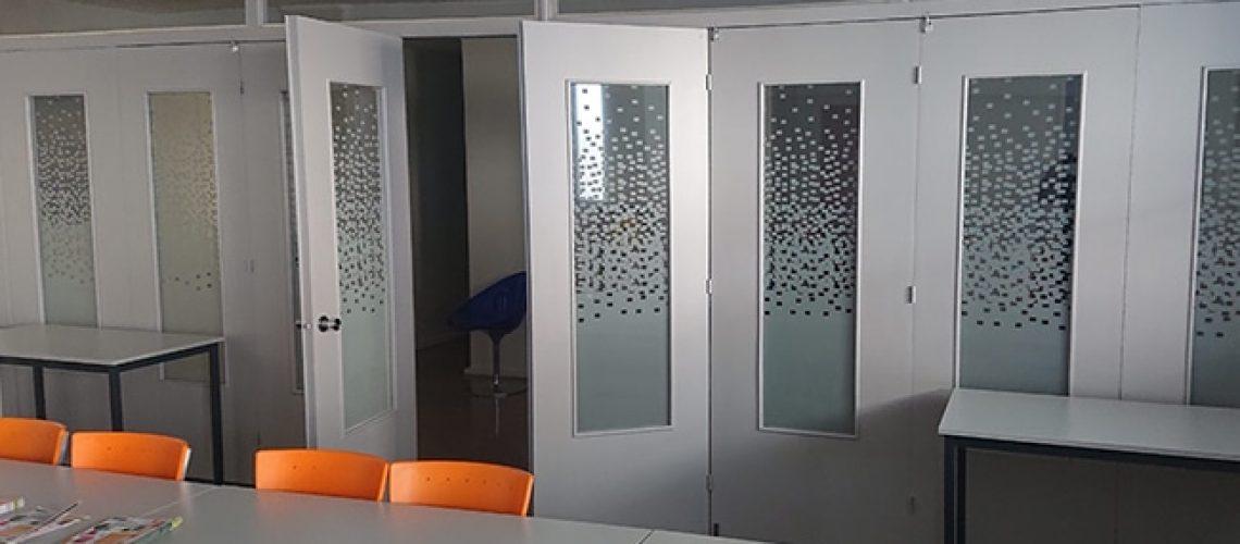 Film dépoli Pixel bureaux Lyon, Confort Glass Sathonay-Camp