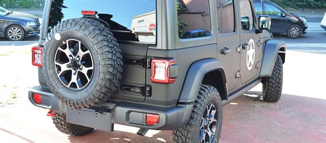 Covering, car-wrapping, vitres teintées, Jeep Wrangler, Confort Glass Automobile, Caluire, Lyon