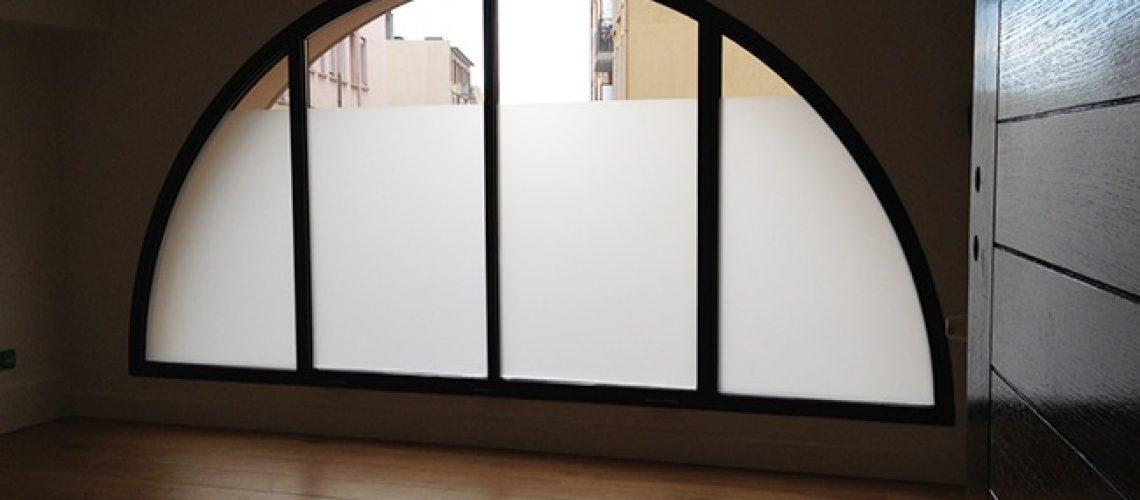 Film dépoli opalisant pour vitrage, Confort Glass Bâtiment, Caluire, Lyon, région Rhône-Alpes