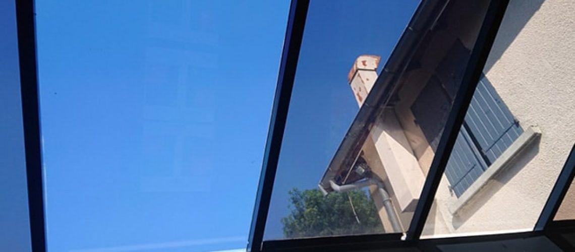 Film solaire Silver35 verrière, film de protection solaire, Confort Glass Bâtiment, Sathonay-Camp, Lyon