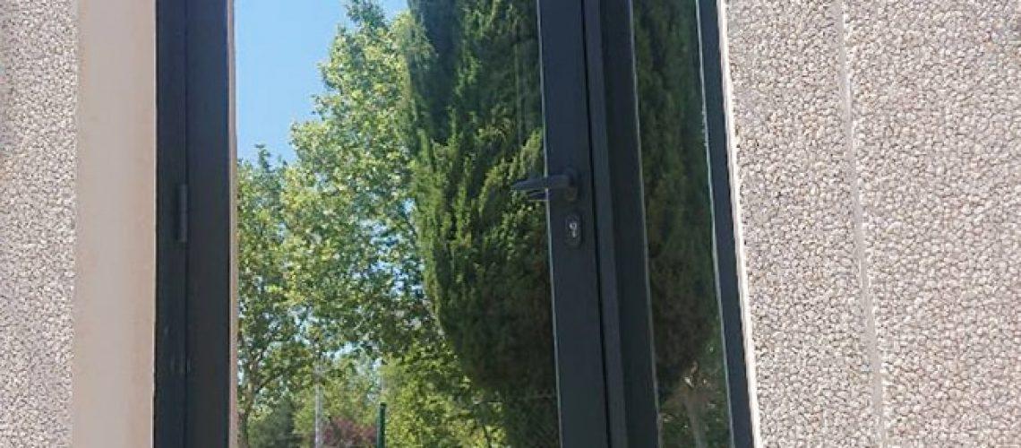 Film solaire Silver20 OSW, film de protection solaire, Confort Glass Bâtiment, Sathonay-Camp, Lyon, région Rhône-Alpes