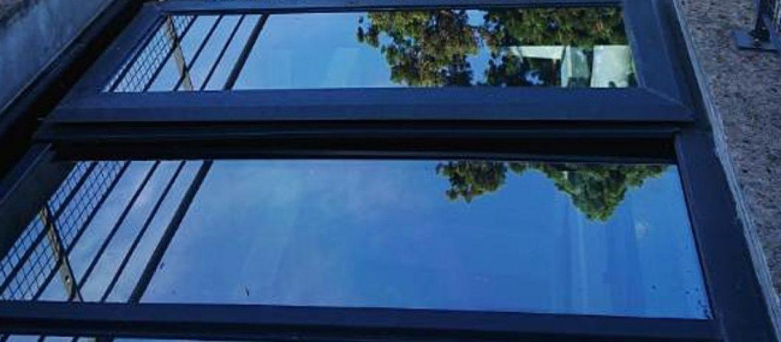 Film solaire SX50 sur verrière, Confort Glass Bâtiment, Sathonay-Camp, Lyon, région Rhône-Alpes