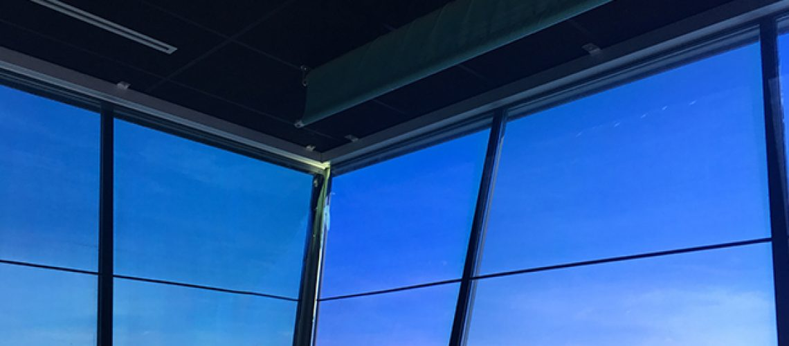 Films solaires motorisés aéroport, Confort Glass, Caluire, Lyon