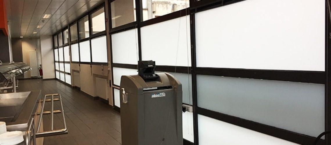 Vitrage, pose film dépoli, Confort Glass bâtiment, Sathonay-Camp, Lyon, région Rhône-Alpes